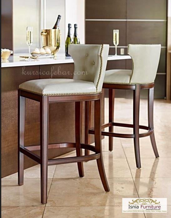 kursi-bar-modern-jok-putih Kursi Bar Modern Jok Putih