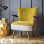 Kursi Sofa Single Yellow Velved