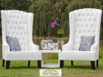Kursi Teras Sofa Putih Angelique