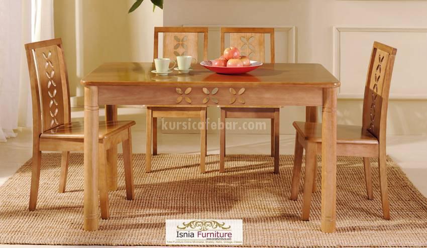 model-meja-makan-cantik-4-kursi Model Meja Makan Cantik 4 Kursi