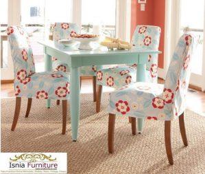 Set Kursi Cafe Flower Modern
