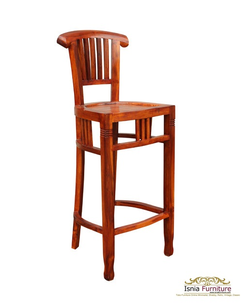 kursi Bar Stool Teak Wood