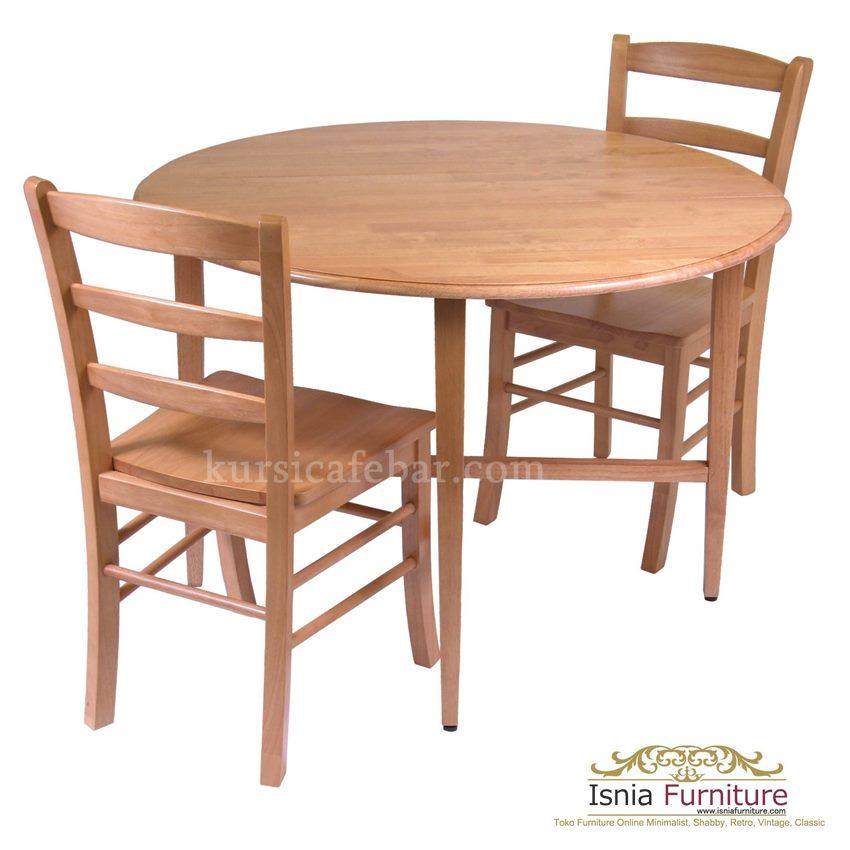 meja-makan-bulat-minimalis-jati Meja Makan Bulat Minimalis Jati