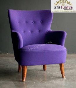 Model Kursi Sofa 1 Dudukan Ungu Terbaru