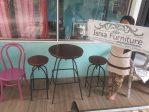 Set Meja Kursi Cafe Besi Round