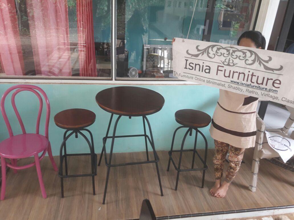 Set-Meja-Kursi-Cafe-Besi-Round Set Meja Kursi Cafe Besi Round