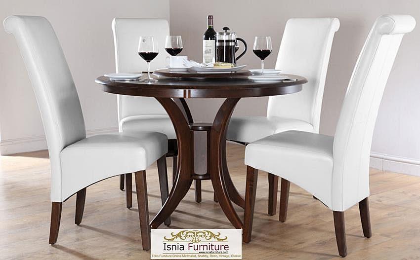 desain-meja-makan-bulat-elegan-4-kursi Desain Meja Makan Bulat Elegan 4 Kursi