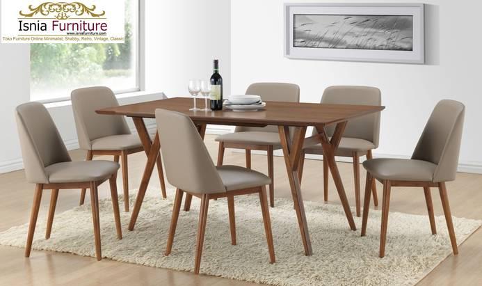 Set-Meja-Kursi-Makan-Retro-Modern Set Meja Kursi Makan Retro Modern