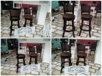 Kursi Cafe Model Bar Stool Berbahan Kayu