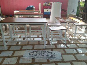 Set Meja Kursi Cafe Model Bangku Ceria