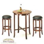 Bar Stool Natural Jok Hitam