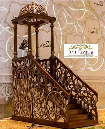 Jual-Mimbar-Masjid-Bandung-Kubah-Ukiran-Mewah Jual Mimbar Masjid Bandung Kubah Ukiran Mewah