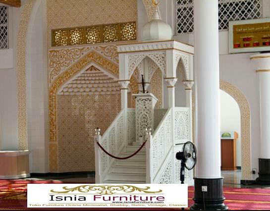 Mimbar-Masjid-Mewah-Kubah-Ukiran-Duco Mimbar Masjid Mewah Kubah Ukiran Duco