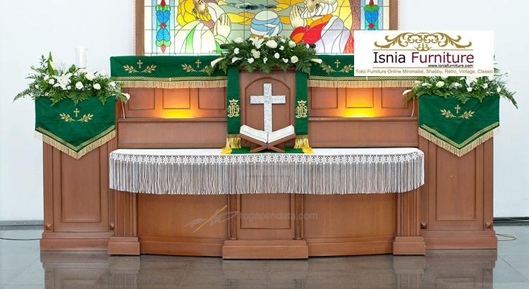 Mimbar-Gereja-Minimalis-Jati 19+ Model Mimbar Gereja Katolik & Kristen Minimalis >> Podium Gereja Murah