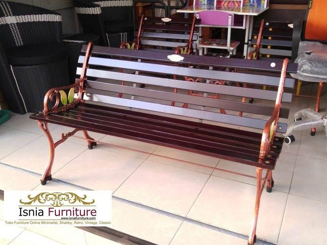 kursi-taman-kayu-besi Kursi Taman Surabaya Model Terbaru