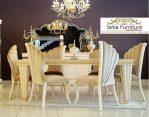 Set Meja Kursi Makan Klasik Mewah Jati Modern