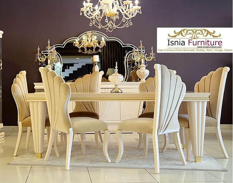 set-meja-kursi-makan-klasik-modern Set Meja Kursi Makan Klasik Mewah Jati Modern