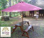 Jual Kursi Taman Lipat Kayu Jati Payung