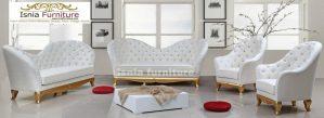 Kursi Sofa Jati Warna Putih Model Terbaru