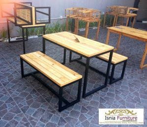 Set Kursi Cafe Kayu Jati Londo Model Outdoor