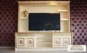 Meja Tv Set Lemari Tempel Dinding Klasik