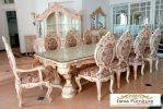 Set Meja Kursi Makan Mewah Minerva Klasik Ukiran