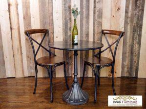 Set Meja Cafe Madiun 2 Kursi Vintage Klasik