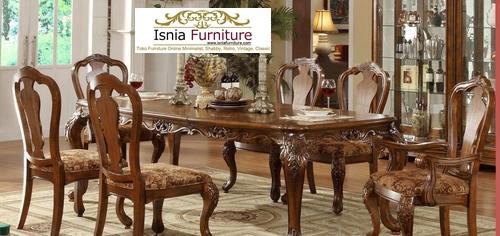 set-kursi-meja-makan-antik-jati-solid Set Kursi Meja Makan Antik Jati Solid