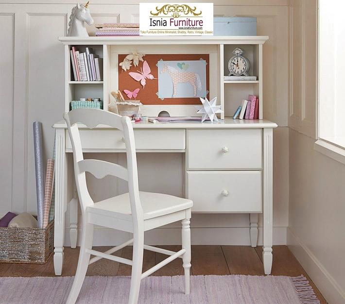 Set-Meja-Belajar-Anak-Modern-Minimalis-Kayu-Warna-Putih Set Meja Belajar Anak Modern Minimalis Kayu Warna Putih