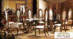 Set Meja Makan Kayu Klasik Ukiran Mewah Imperial