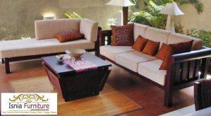 Jual Set Kursi Sofa Tamu Minimalis Jati Solid Termurah