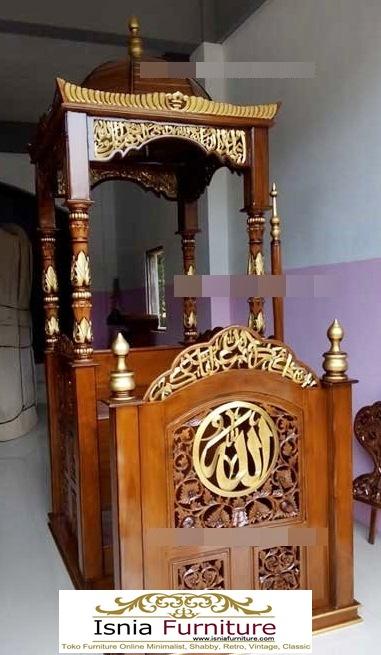 Mimbar-Masjid-Bogor-Ukiran-Mewah-Jepara-Kayu-Jati Jual Mimbar Masjid Bogor Ukiran Mewah Jepara Kayu Jati