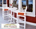Kursi Cafe Jati Model Minimalis Vintage Duco Putih