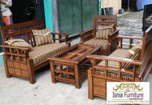Kursi Sofa Jati Set Ruang Tamu Minimalis Modern