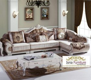 Kursi Tamu Sudut Sofa Mewah Modern Berkualitas