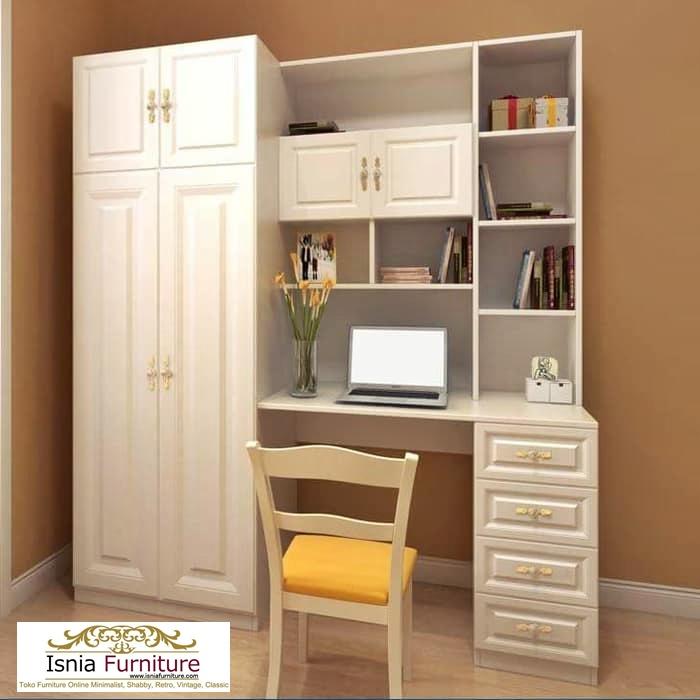 meja-belajar-lemari-pakaian-anak Meja Belajar Anak Plus Lemari Pakaian Minimalis 2 Pintu