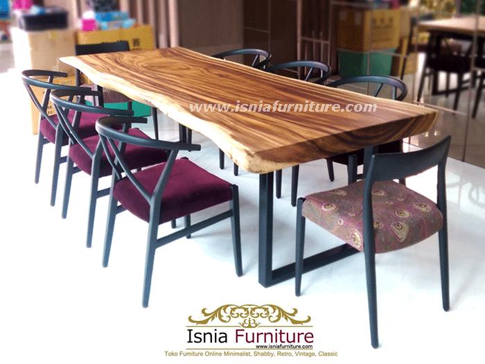 set-meja-makan-trembesi-bandung-minimalis Set Meja Makan Trembesi Bandung Model Minimalis