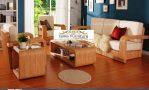Set Kursi Sofa Jati Malang Model Minimalis Ruang Tamu
