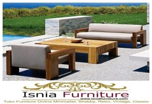 Kursi Taman Kayu Jati Minimalis Model Sofa Baru Termurah