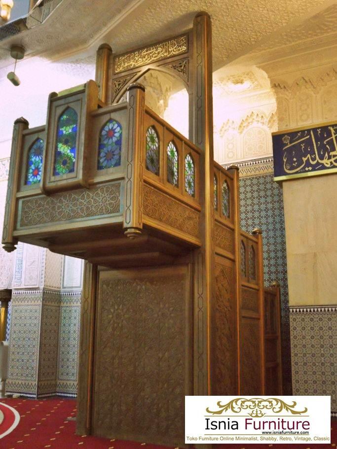 mimbar-masjid-besa-kota-denpasar-ukiran-mewah-jati Jual Mimbar Masjid Besar Kota Denpasar Ukir Jati Terlaris