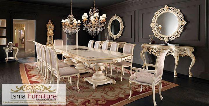 meja-makan-besar-kota-denpasar-duco-putih-12-kursi Jual Meja Makan Mewah Besar Kota Denpasar 12 Kursi