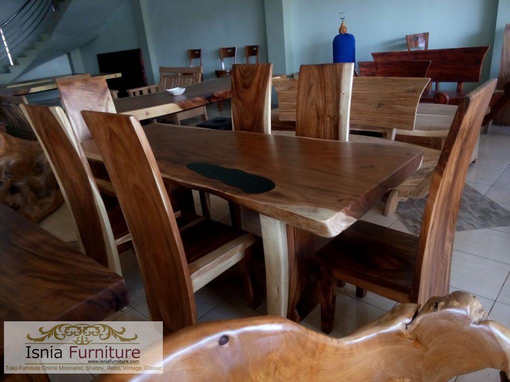 meja-makan-trembesi-solid Jual Meja Makan Trembesi Modern Kayu Solid Murah