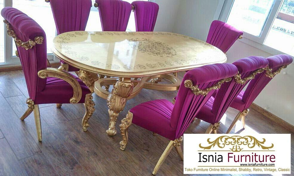 set-meja-makan-mewah-kayu Jual Set Meja Makan Mewah Classic European Style
