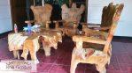 Jual Kursi Teras Rumah Unik Akar Tunggak Jati Bogor