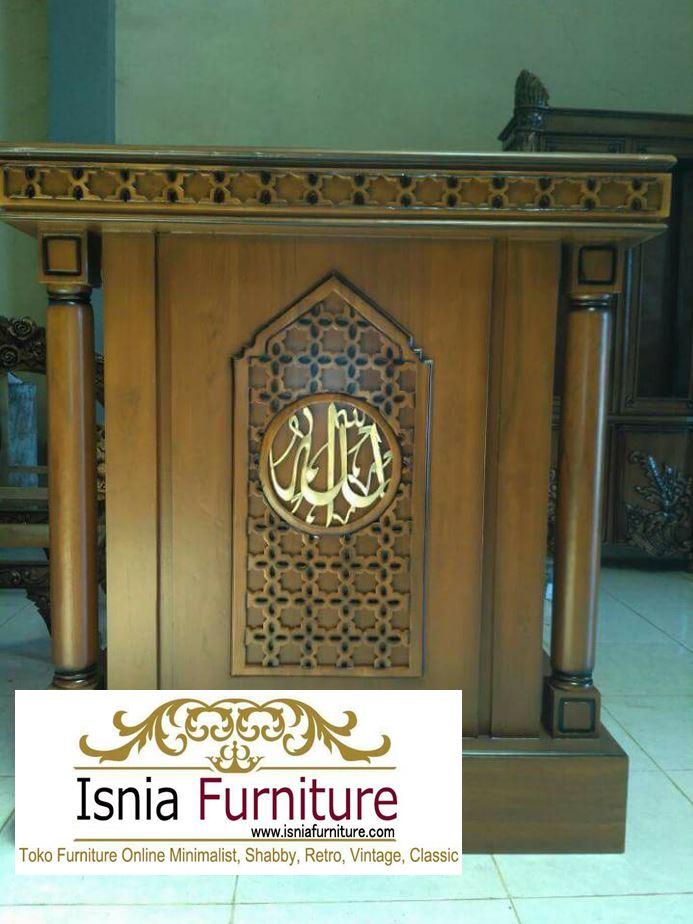 mimbar-masjid-minimalis-jati-murah Mimbar Masjid Kayu Jati Minimalis Kota Makassar Harga Murah