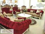 Jual Set Kursi Sofa Mewah Ruang Tamu Ukiran Kayu Depok