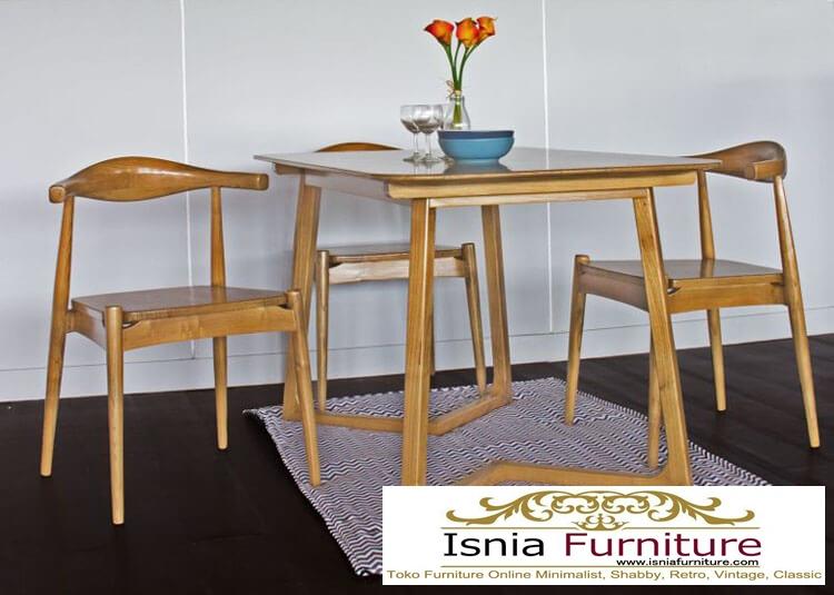 set-meja-kursi-cafe-minimalis-jati Jual Set Meja Kursi Cafe Jati Minimalis Scandinavian Murah