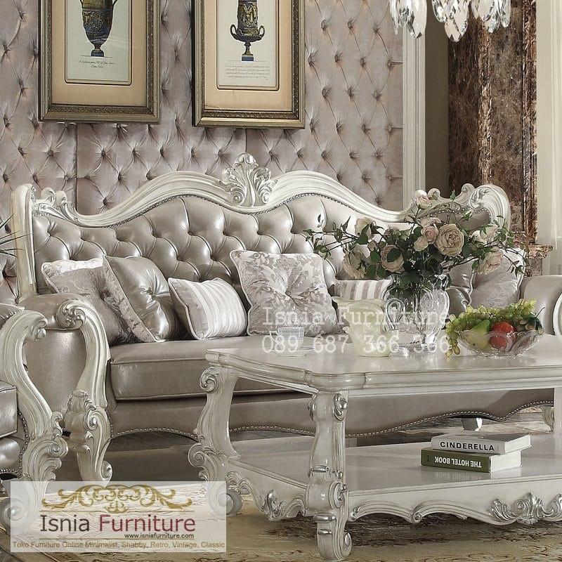 set-kursi-tamu-sofa-mewah-putih Jual Set Kursi Sofa Mewah Putih Ruang Tamu Desain Klasik