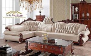 Jual Set Kursi Sofa Mewah Jati Sudut Ruang Tamu