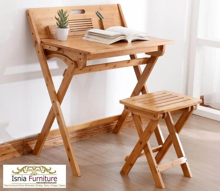meja-belajar-lipat-kayu-jati Model Meja Belajar Lipat Kayu Jati Minimalis Untuk Anak